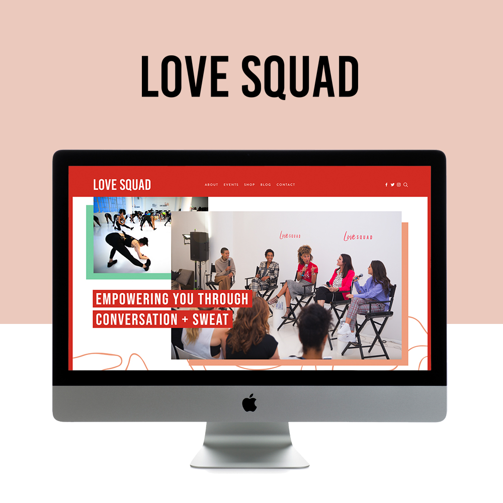 e950a7b0a Love Squad is Live on Squarespace — GoLive: Squarespace Website ...