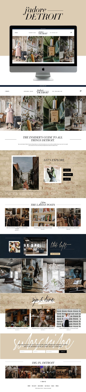 Chic, High-End Website Design for Blogger | Go Live HQ
