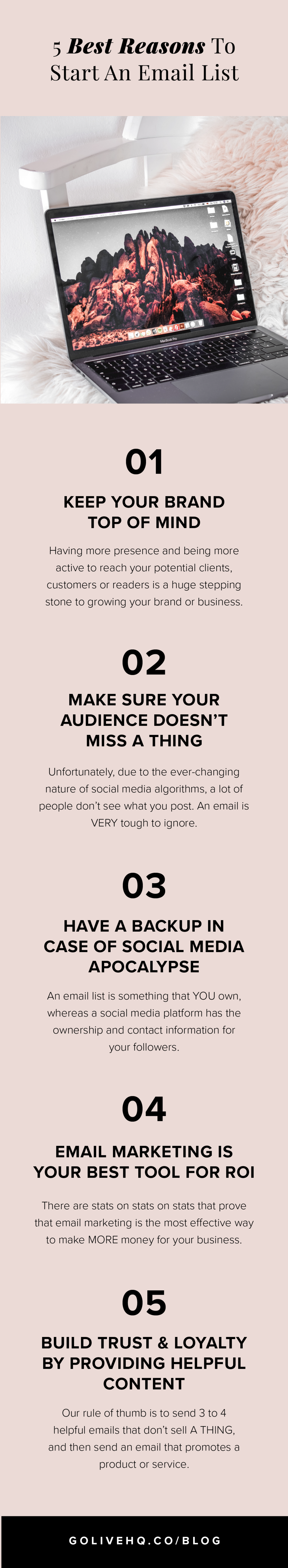 Our Best Reasons To Start An Email List | Go Live HQ