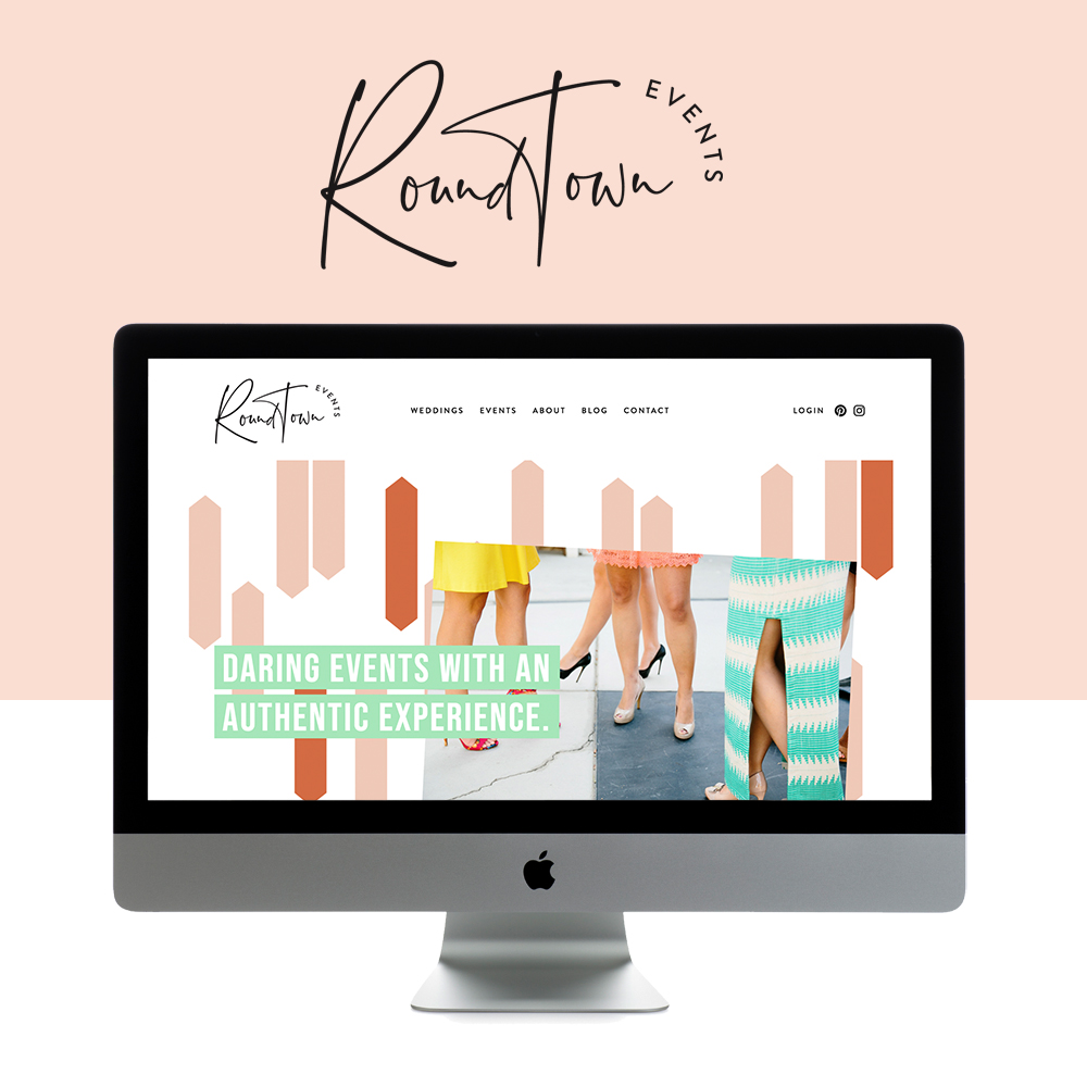 Lively and Stylish Website Design for Event Planners | Design by Go Live HQ