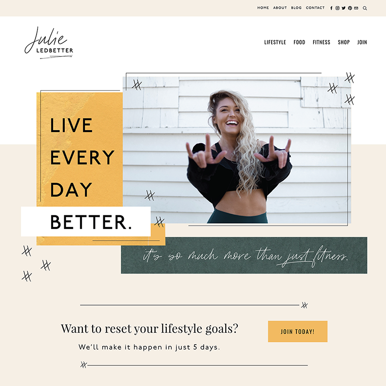 Authentic, Fun, and Colorful Website Design for Health & Wellness Mentor | Design by Go Live HQ