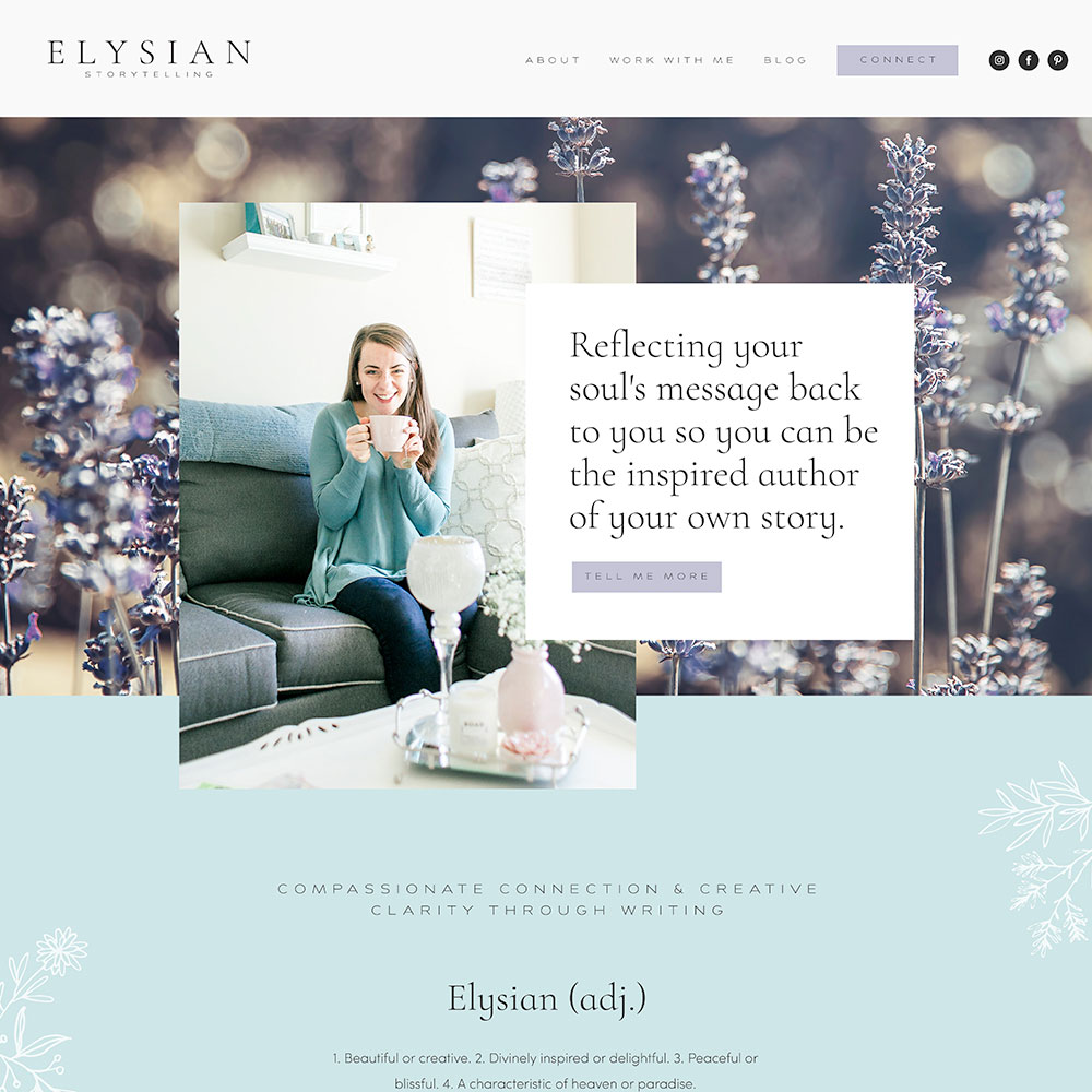 Elegant and Modern Website Design for Writing Coach | Design by Go Live HQ
