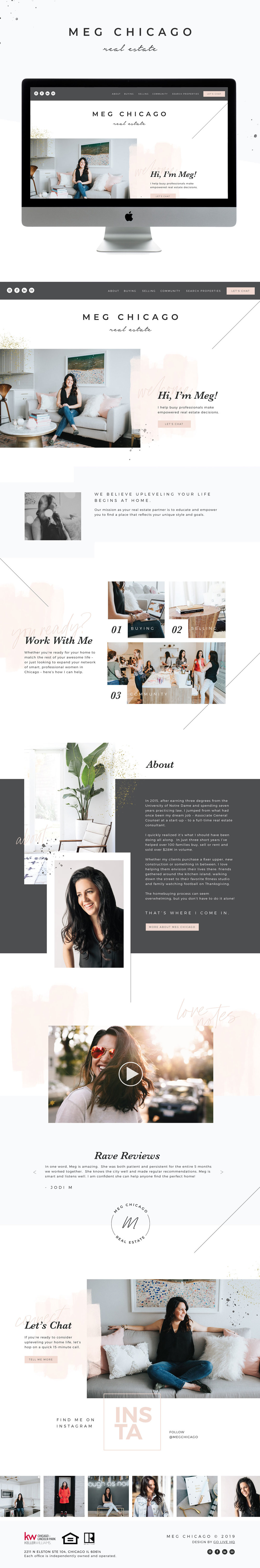 Creative, Modern, and Fun Website Design for  Chicago Real Estate Agent | Design by Go Live HQ