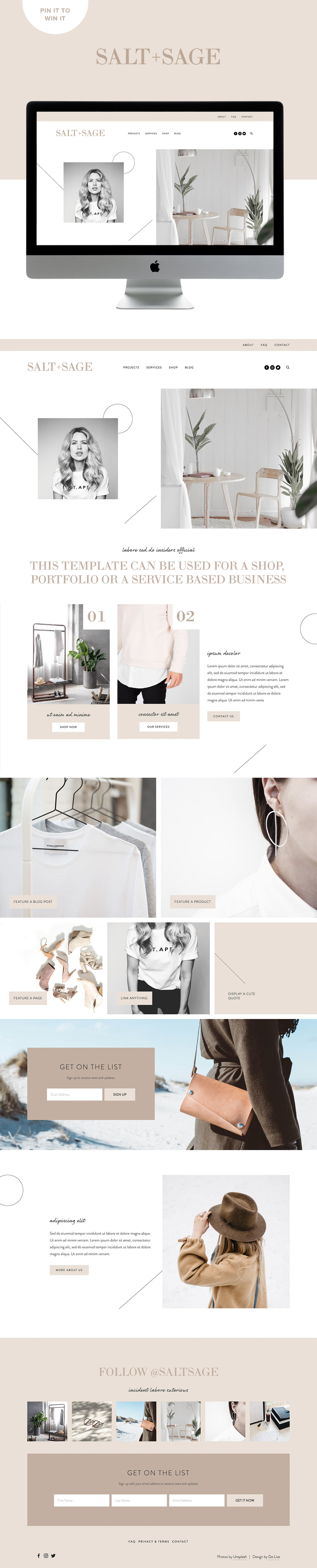 modern, minimal, versatile website template for squarespace coaches and consultants | Design By Go Live HQ