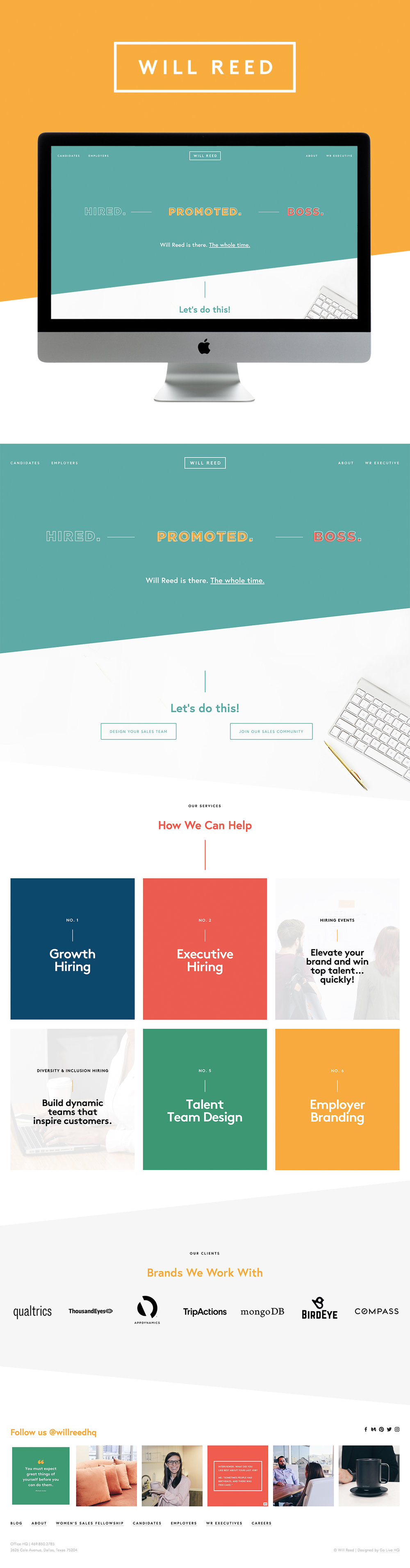Corporate, Colorful, Professional Website Design For Squarespace | Design By GoLive