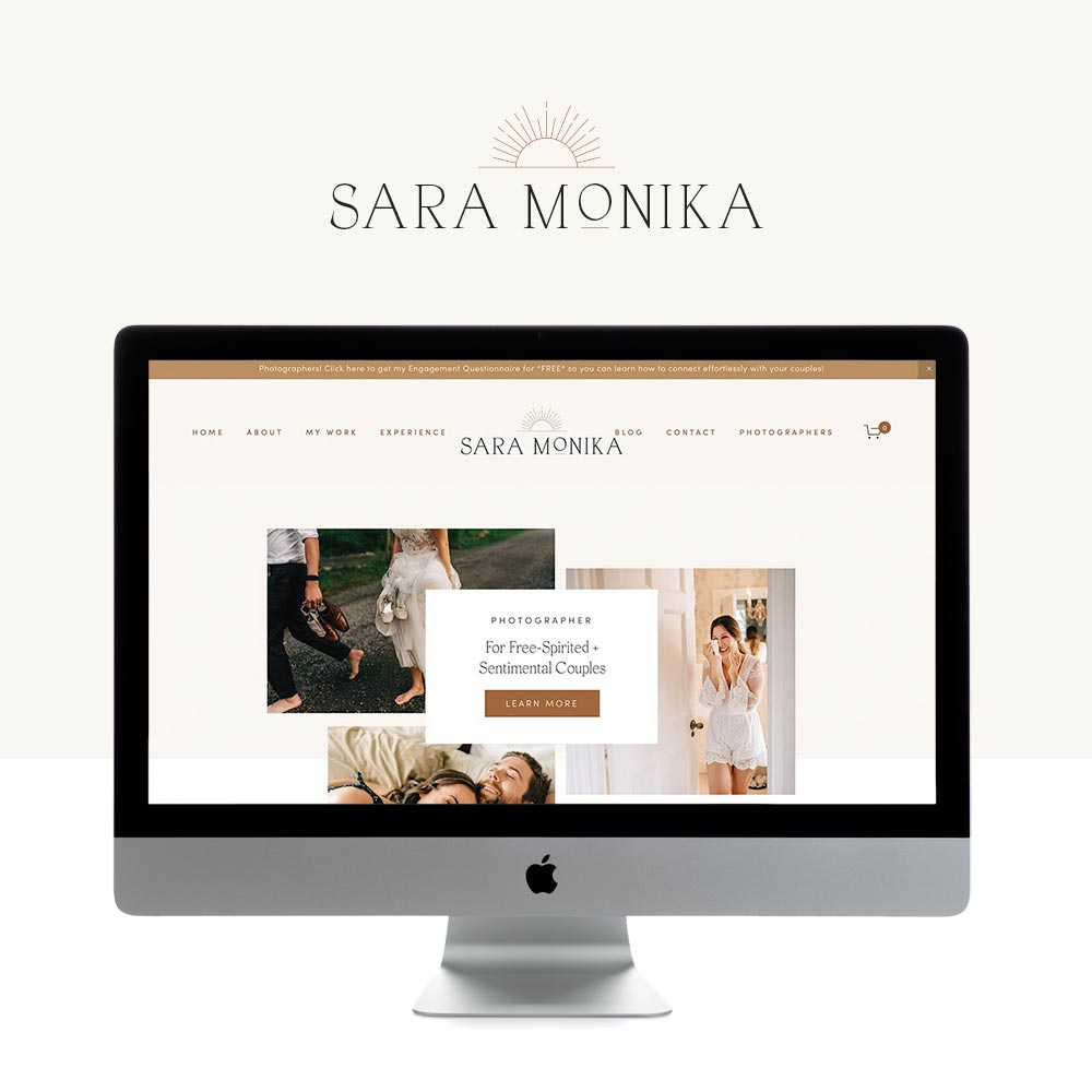 Modern, Inviting and Minimalistic Website Design for Wedding Photographer | Design by GoLive