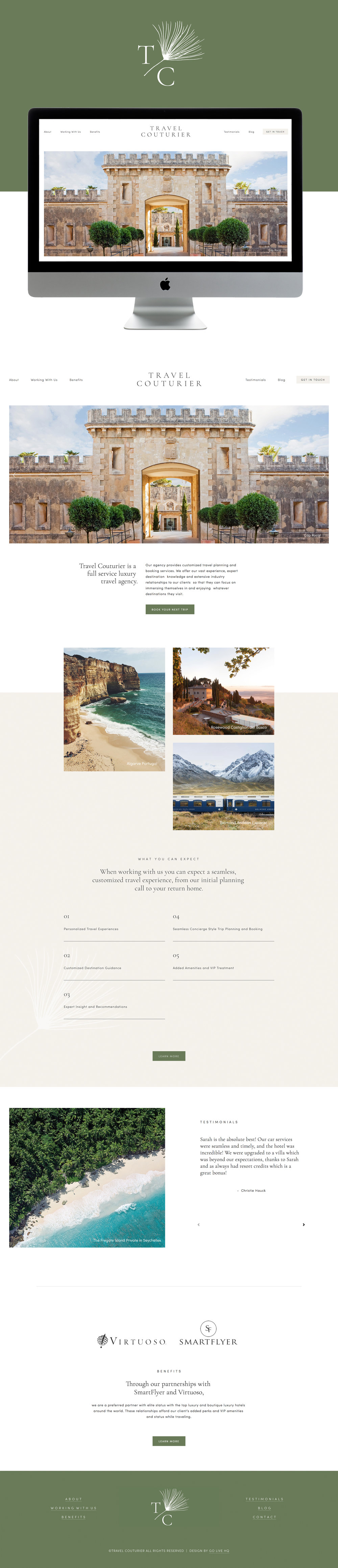 Clean, Minimal, Travel Squarespace Website Design | By GoLive
