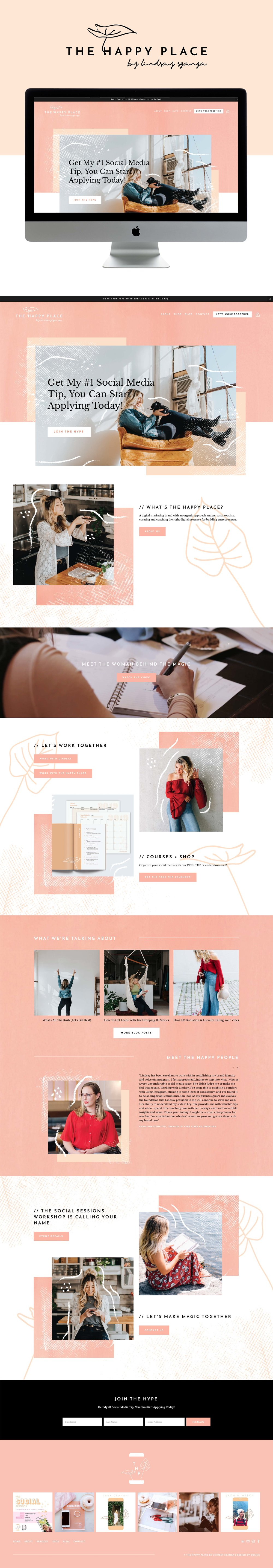 Bright, Modern, Fun Squarespace Website Design For Digital Marketing Agency By GoLive