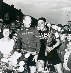 Winnaar 1962 Maarten Breure (links) en Gerben Karstens, die op de tweede plaats eindigde.