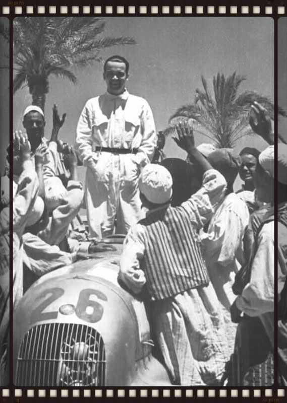 Caracciola in typically imperious form at Tripoli in 37: Caratch was seriously superstitious and would take with him all sorts of lucky trinkets to race weekends