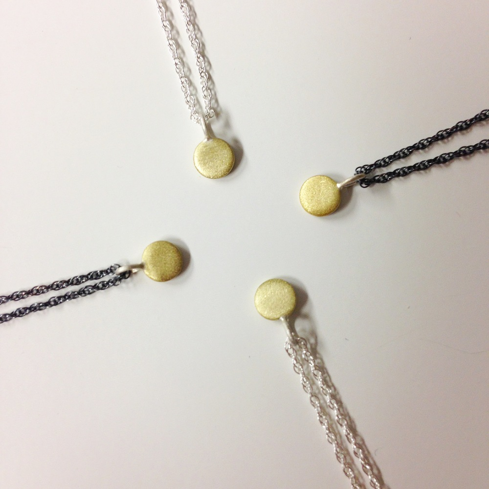 itty bitty necklaces in brass are also new! -and also not on my site yet, please  contact me  if you are interested in this new design.