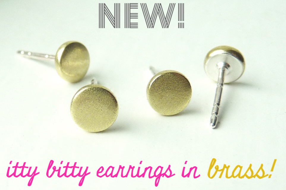 brass bitty earrings