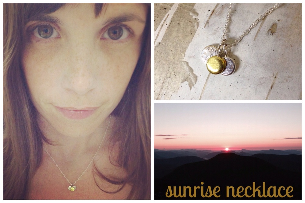 my sunrise necklace and the moment in time which inspired it
