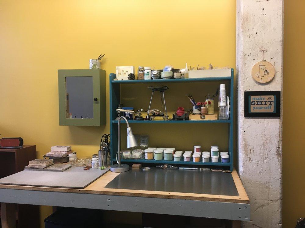 Enamel/solder station!
