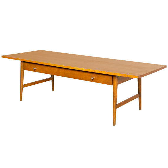Paul McCobb Maple Coffee Table With Drawer