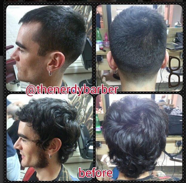 """""""Total Restyle! Without a doubt one my best cuts so far. Looking seriously sharp!""""    Posted and hashtagged by @thenerdybarber"""