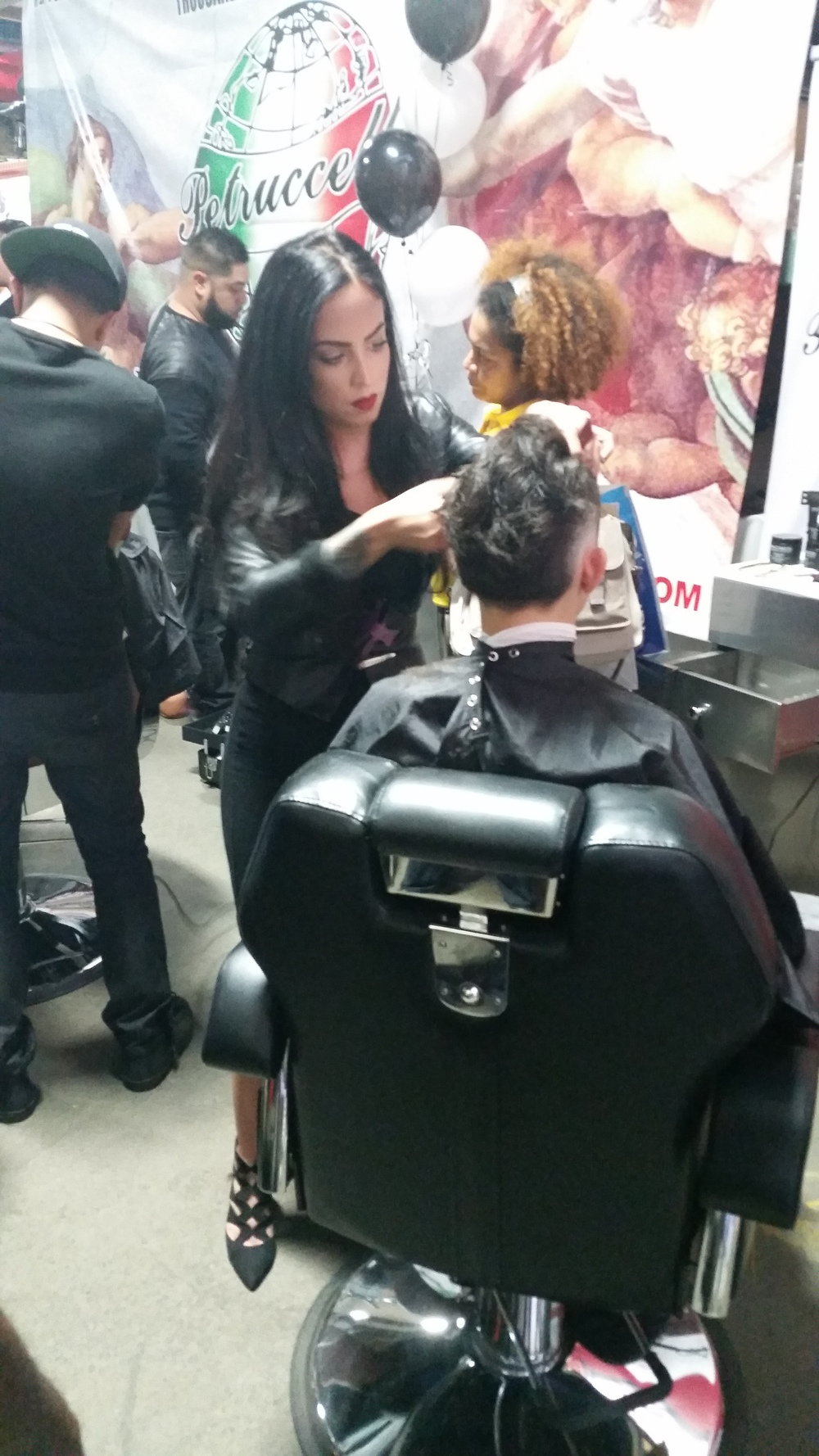 Lena_Piccininni Lady Barber Her Chair His Hair Pacinos NYC
