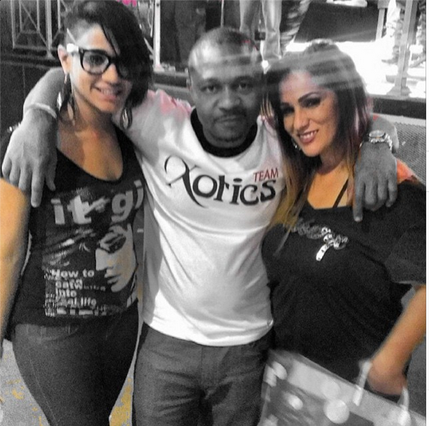 """From @RxBarber Instagram page:  """"December 15th 2013. I competed in fastest fade at #xotics barber battle. I won first place that day. This was the first time I met this phenomenal #Ladybarber on the left. I have seen her and spoken with her at several other battles since then and have had conversations with her."""""""