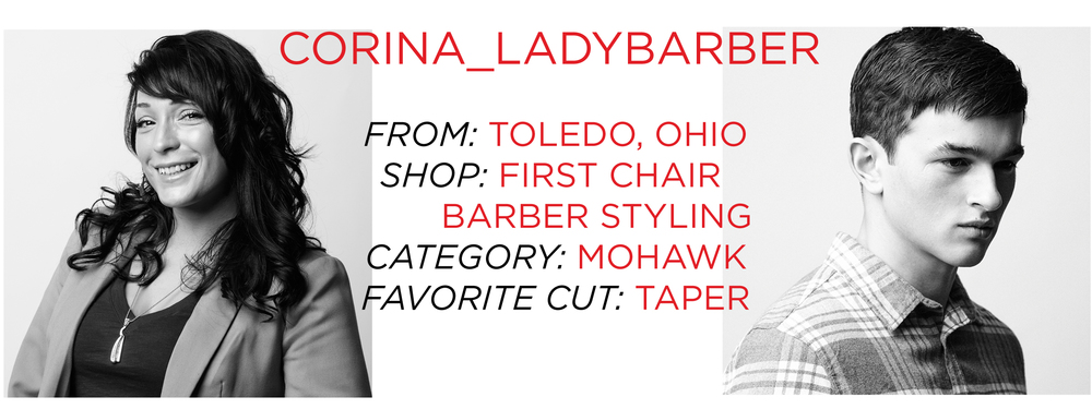 Corina_LadyBarber She's My Barber Battle HerChairHisHair San Francisco NY
