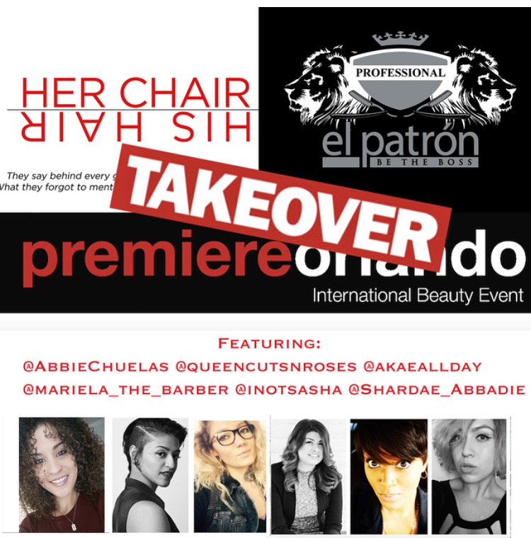 Her Chair His Hair El Patron Mens Grooming Takeover Premiere Orlando Hair Show NYC