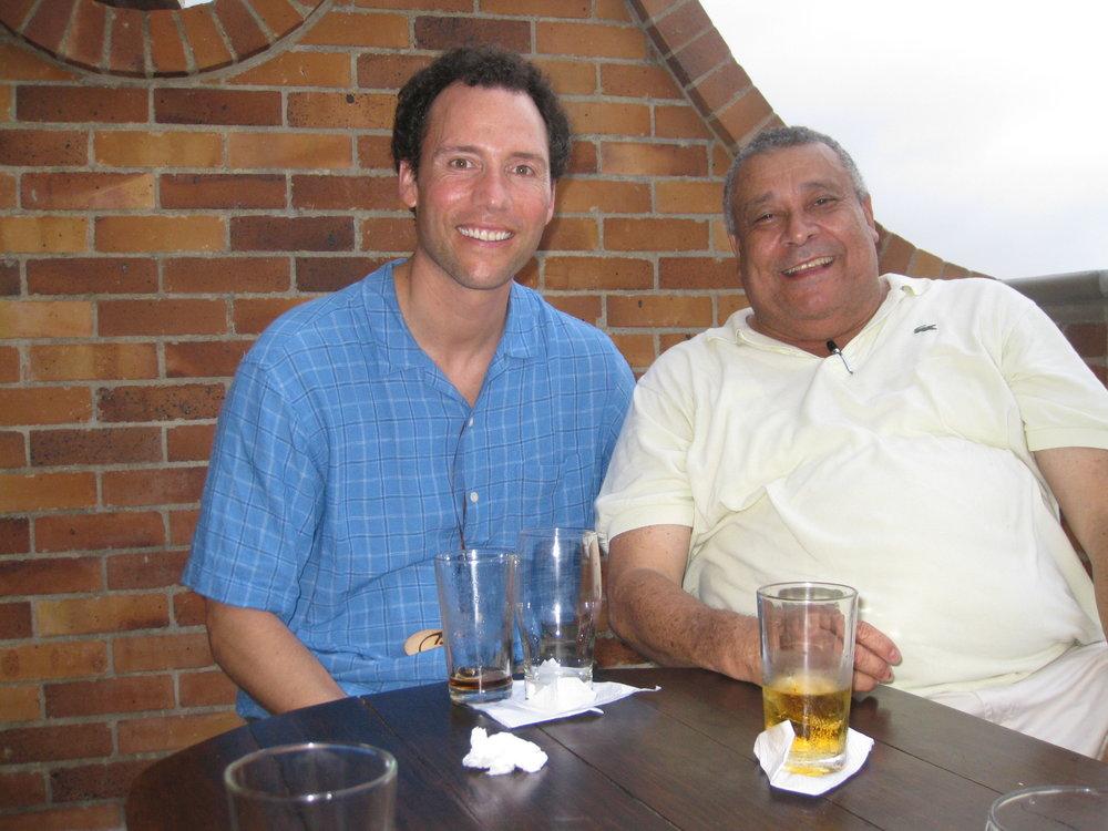 Con mi tío Juan en Barranquilla.