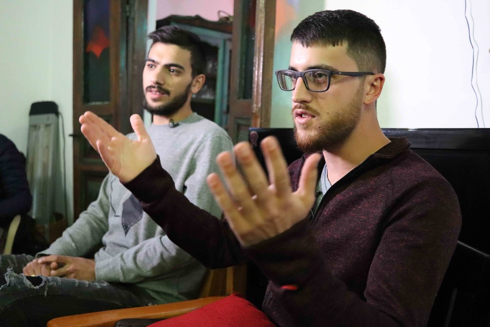 Majdr (left) and Afeef, the Druze brothers.