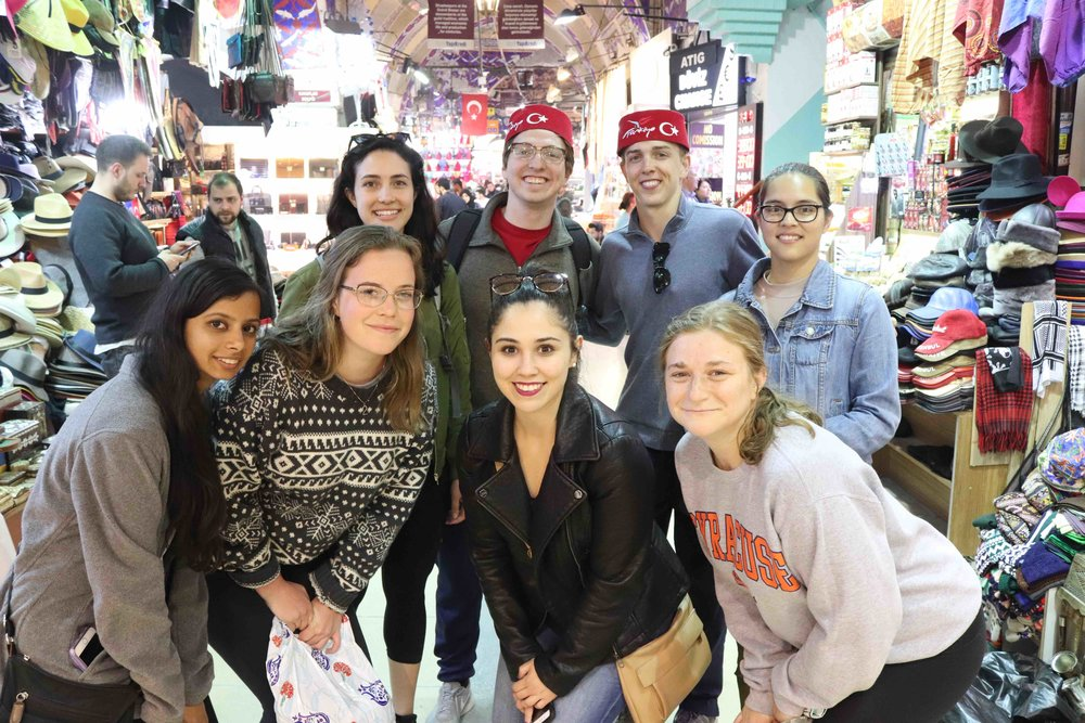 Newhouse students at the Grand Bazaar in Istanbul.