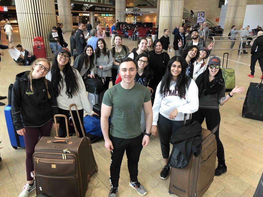 After: at Tel Aviv airport.