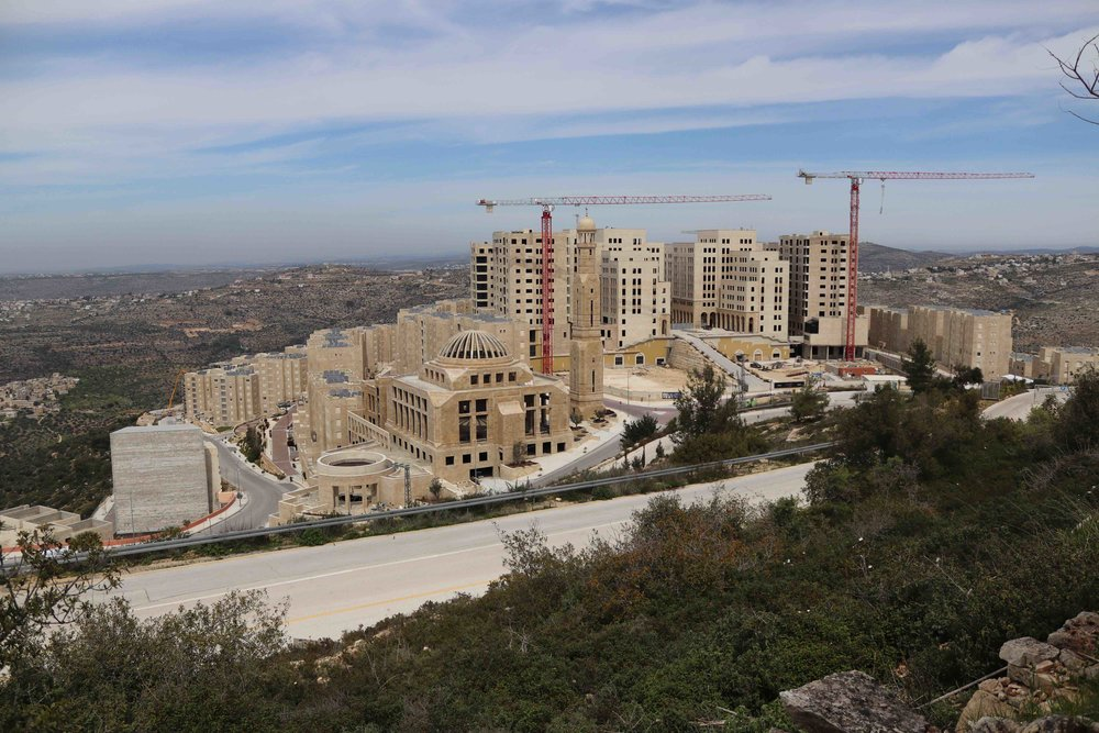Rawabi rises from the hillside, about a 30-minute drive north of Ramallah in the West Bank.