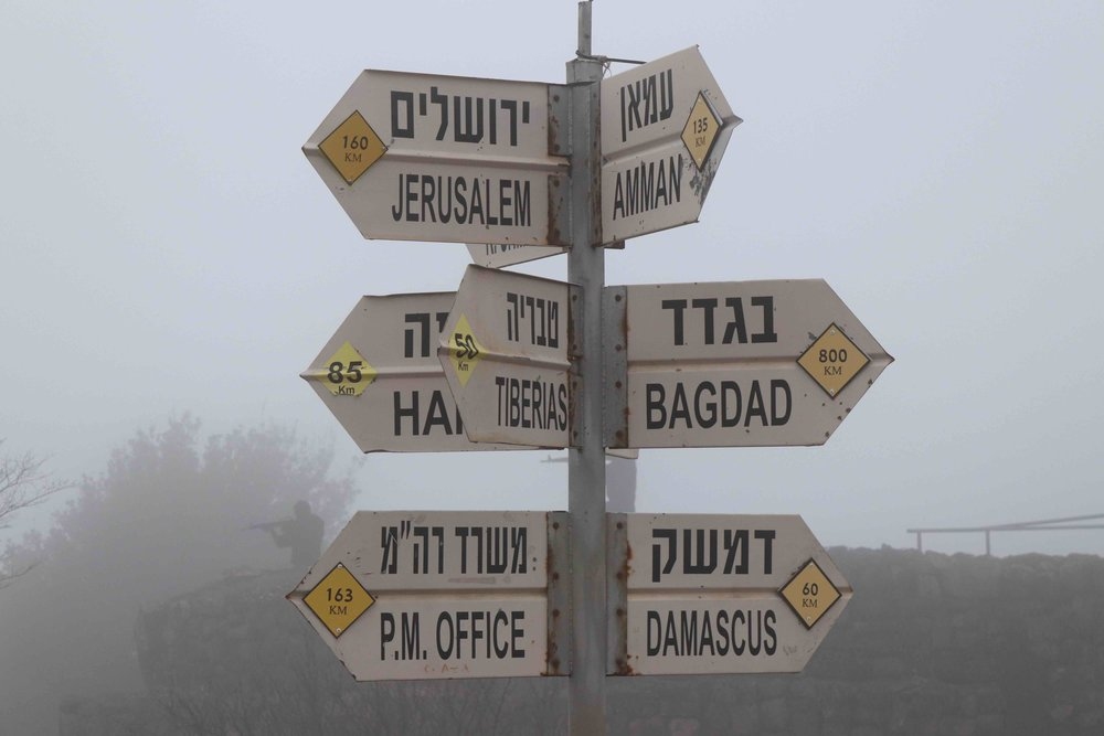 Directions from the Golan Heights.