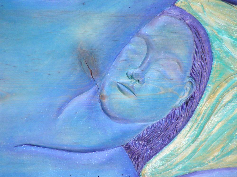 Sculpture-Blue Lady detail.JPG