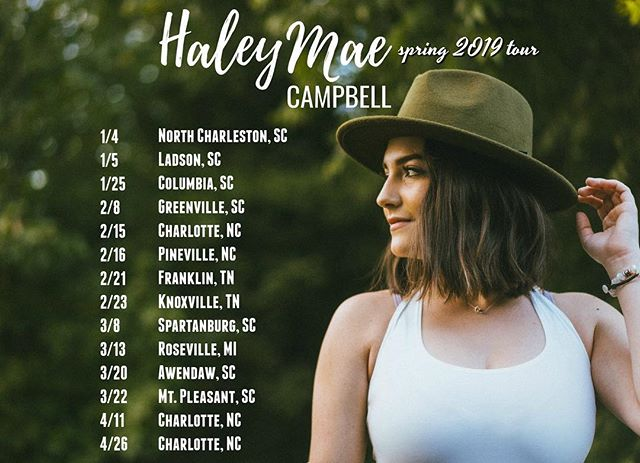 Starting this year off right!!! 🥳 I am SO excited to be playing these cities + more... comment where else we should visit this year!! Visit haleymaecampbell.com/tour for all the detailssss ✨
