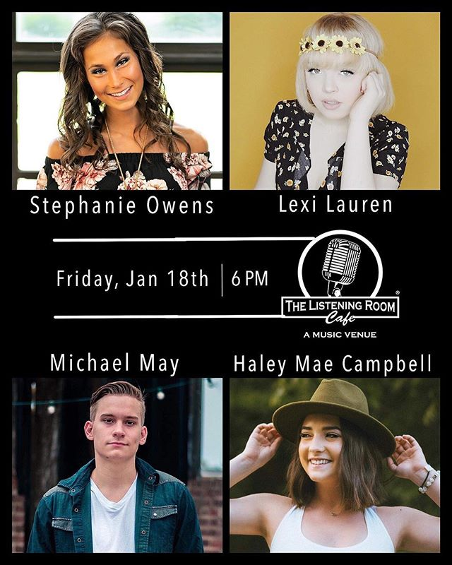 SO EXCITED!!! I can't wait to play the famous @listeningroomcafe for the first time on Friday, January 18th ✨ Come on out if you're in Nashville!
