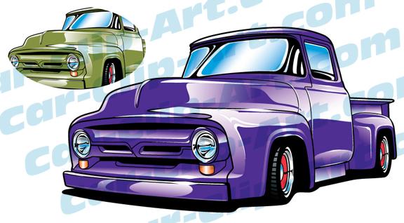1956 Ford Truck Vector Clip Art Car Clip Art Com