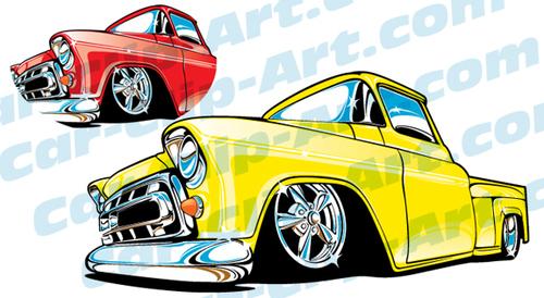 1957 Chevy Truck Vector Clip Art — Car-Clip-Art.com