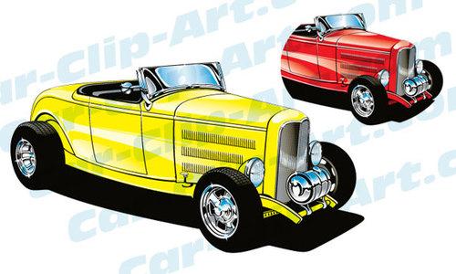 1932 Deuce Coupe Hot Rod Vector Clip Art — Car-Clip-Art.com
