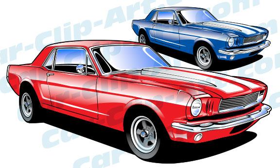 1965 Ford Mustang Vector Clip Art Car Clip Art Com