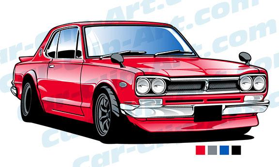 vintage nissan skyline car clip art com rh car clip art com vintage race car clipart vintage race car clipart