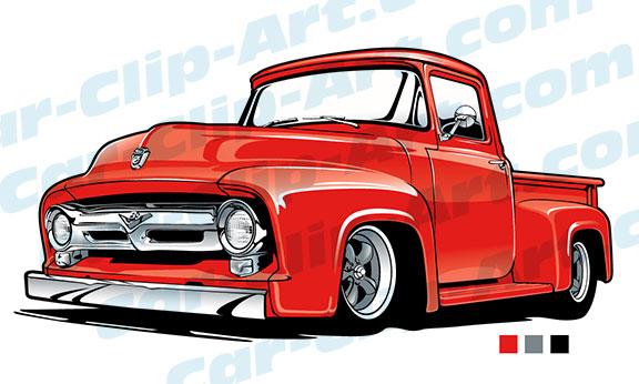 53 Ford Truck Vector Clip Art Car Clip Art Com