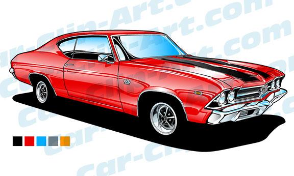 69 chevelle ss 396 vector clip art car clip art com rh car clip art com Muscle Car Backgrounds classic muscle car clipart