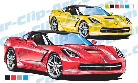 corvette c7 stingray vector clip art car clip art com rh car clip art com corvette clip art cars corvette clip art silhouette