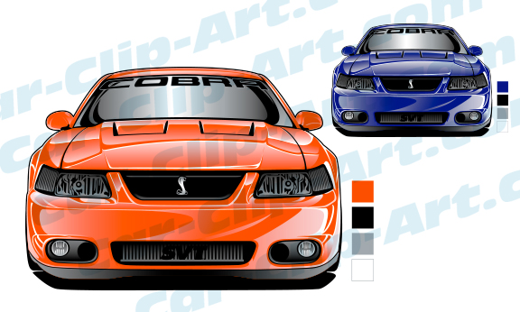 Mustang Cobra Vector Art Bundle Save 50 Car Clip Art Com