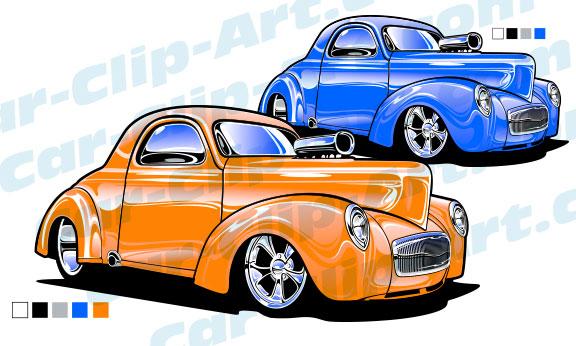 Street Rod Willys Vector Art Car Clip Art Com