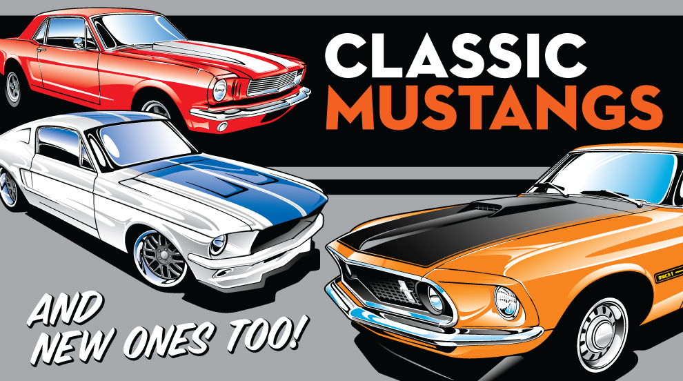 Ford Mustang Vector Art