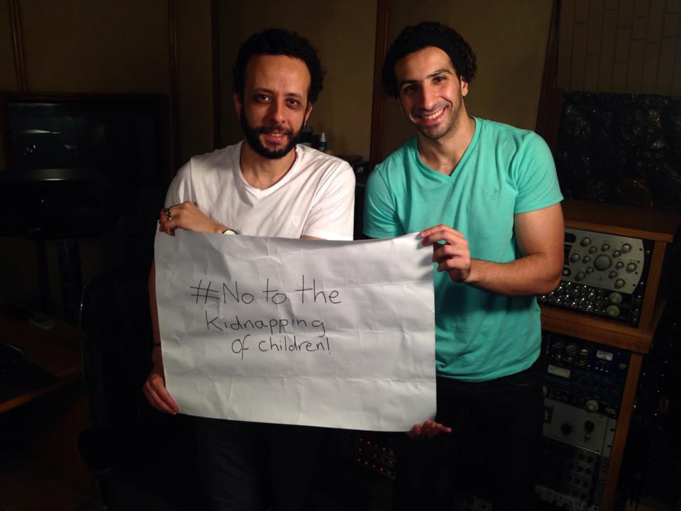 Left - Amr ElKady Egyptian Actor and Artist Right - Asser Abdelghany Egyptian Journalist