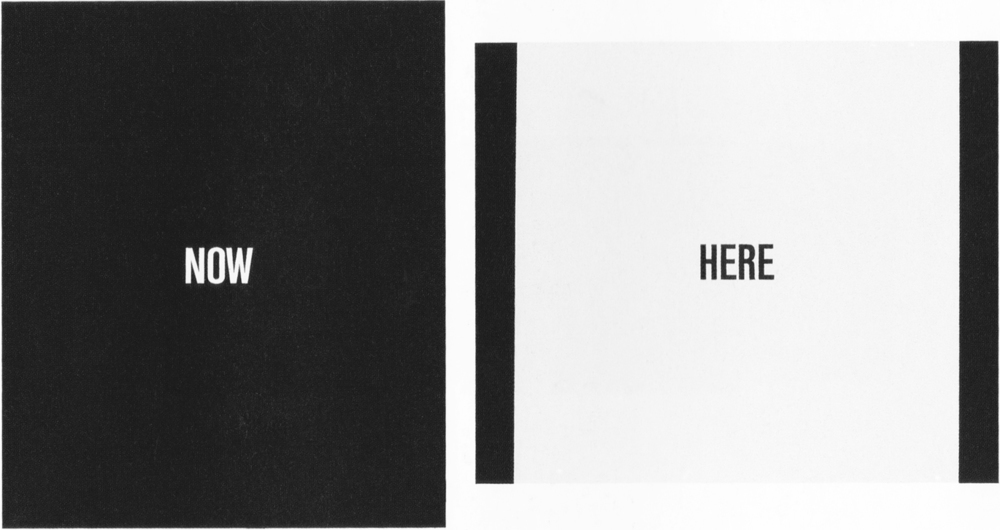 Stig Brøgger: Now Here (1989-1990) Painting in two parts (left: 120x100 cm, right: 100x120 cm) Alkyd and oil on canvas. From the series Now Here.