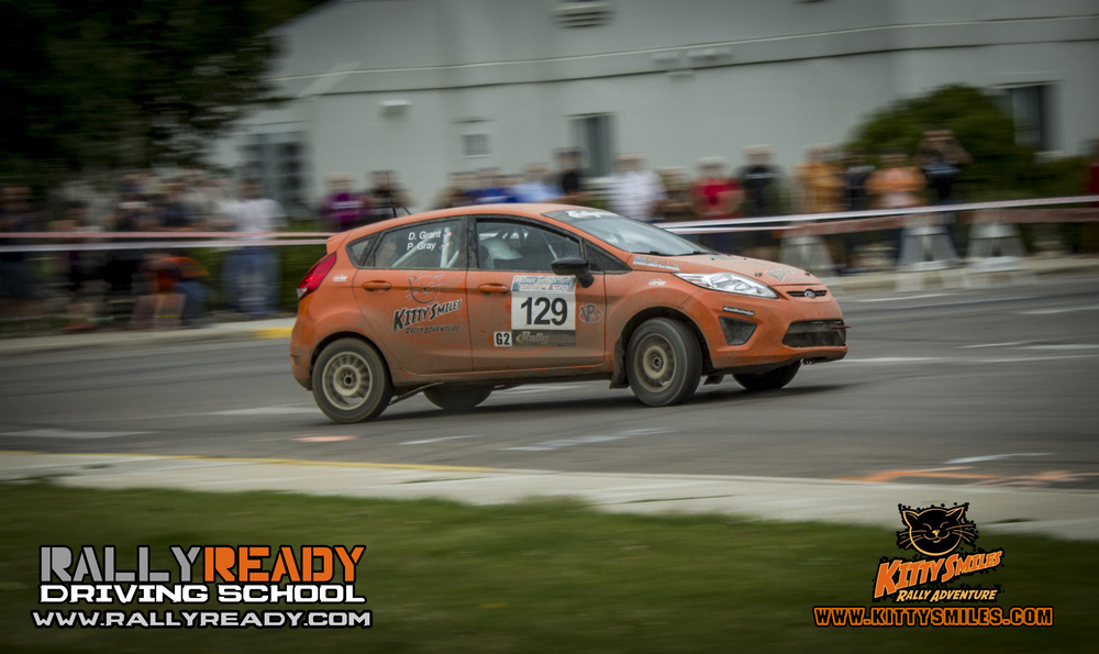 Payton coming through the last corner of the spectator stage. 2014 Ojibwe Forest Rally. Copyright Rally Ready Driving School