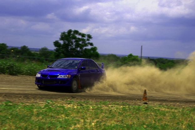 Ferrari Challenge champion Mark McKenzie in an Open Class Evo 8 Rally Car during his private training at Rally Ready.