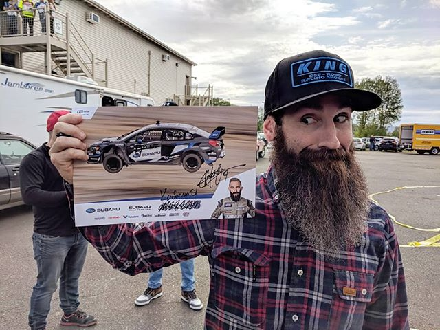 We're cruising around @oregontrailrally with @thearclight and @buckylasek. Aaron doesn't have any hero cards so he had to improvise. Sorry @chrisatko!