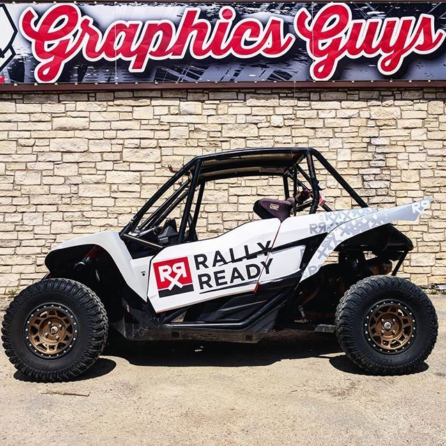 @graphicsguys knocked it out of the park again on the wrap on one of our Yamaha YXZ's. Thanks to Byron and the folks there as usual for killing it in the 11th hour. We had a blast ripping this thing around at our off-road track day this weekend. Getting mega amped for some new stuff this fall! Who wants to come drive this thing?!#sequentialtransmission #utvtakeover
